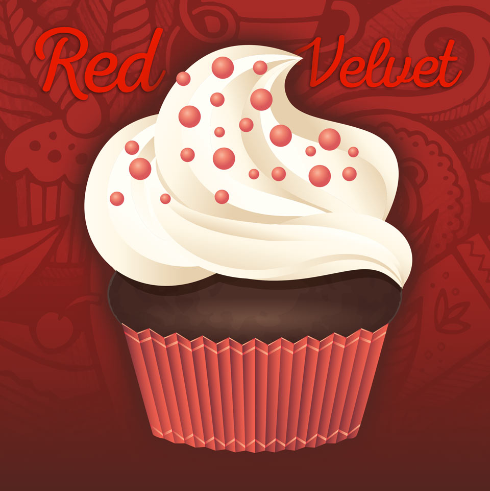 Red Velvet Cup Cakes au Tazza CAFFE