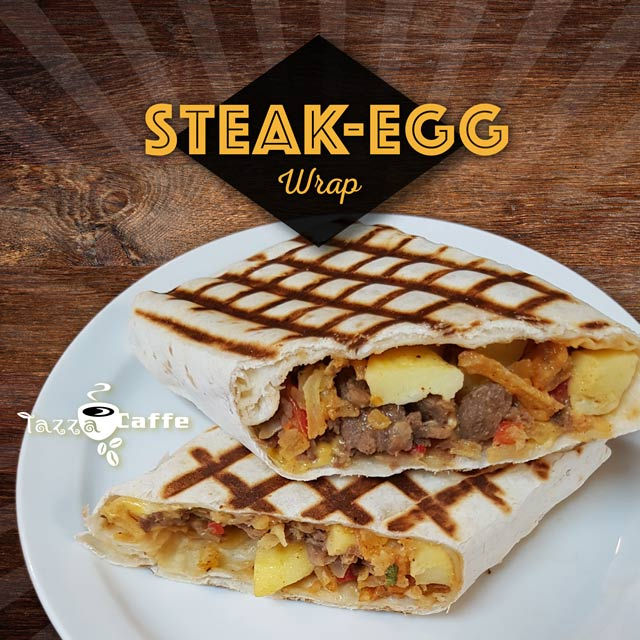 New breakfast sandwich, the Wrap Steak-egg.