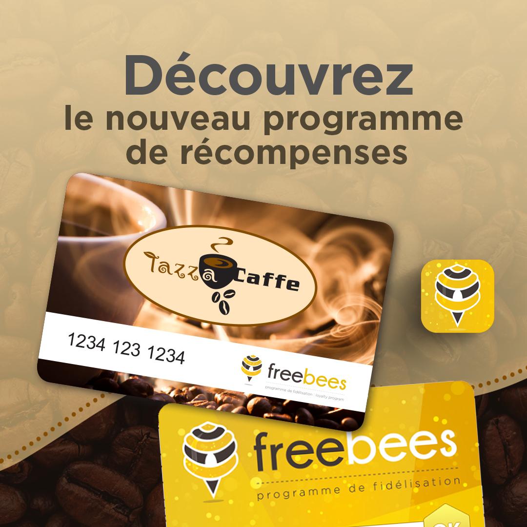 Découvrez le nouveau programme de récompenses Tazza CAFFE!