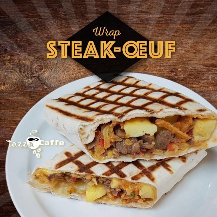 Nouveau sandwich déjeuner, le Wrap Steak-œuf.